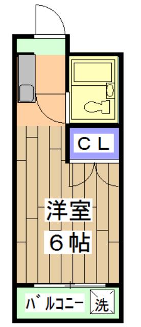 サインハイツコジマパートⅡ 205号室の間取り
