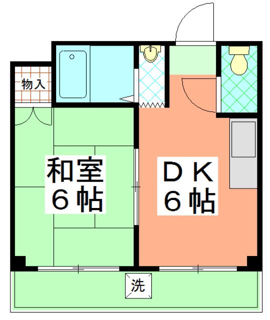 ル・松尾 402号室の間取り