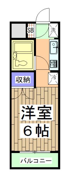 パラドール円町 207号室の間取り