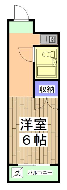 サニーハイツ西ノ京 1-H号室の間取り
