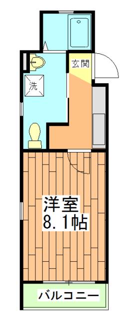 ドーリアNEXT花園 3-C号室の間取り