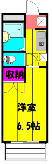 安武マンション駅東 501号室の間取り