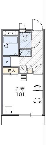 レオパレスアロマ赤坂Ⅱ 206号室の間取り