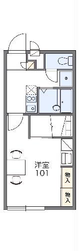 レオパレスグローリーハウス24 209号室の間取り