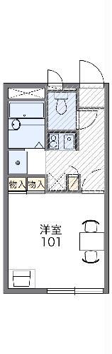 レオパレスSUZUKI 208号室の間取り