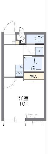 レオパレスJ BOX Ⅳ 201号室の間取り