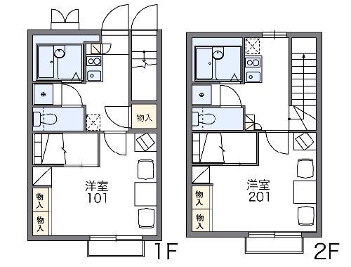 レオパレス幸田B 203号室の間取り