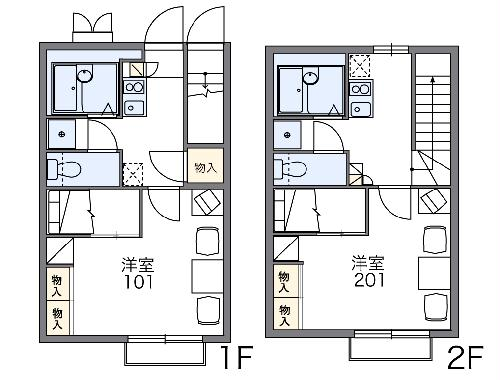 レオパレス幸田B 206号室の間取り