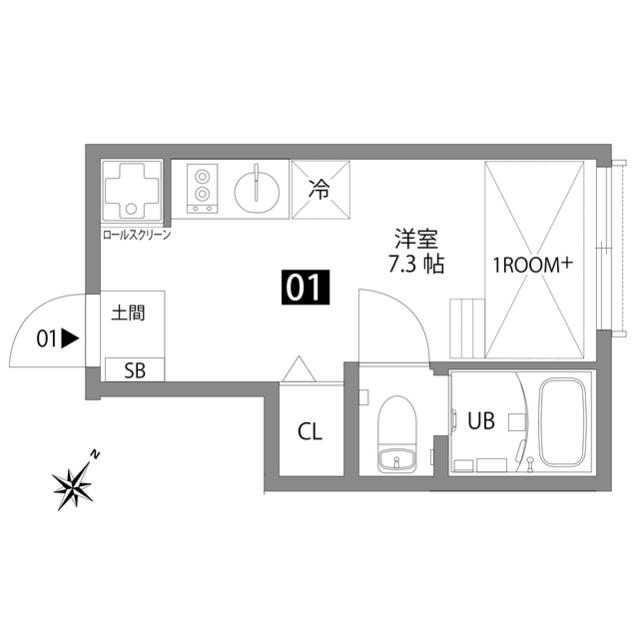 文京大塚テラス 01号室の間取り
