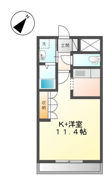 エルシオンⅢ 108号室間取り図