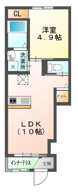 (仮称)新築息栖 2×4・ユニヴァリィⅡ 103号室の間取り