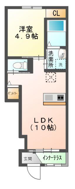 (仮称)新築息栖 2×4・ユニヴァリィⅡ 105号室の間取り