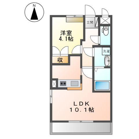 ドラクロワ 00106号室の間取り