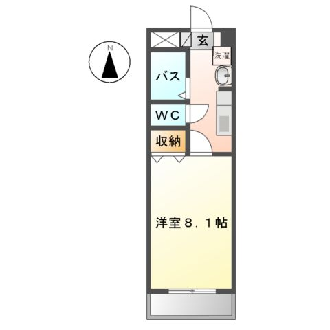 樹里庵 102号室間取り図