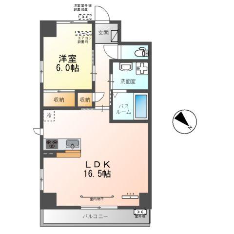 フローラ小石川 208号室の間取り