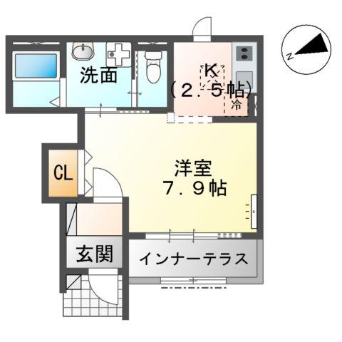 新作新築アパート 105号室の間取り