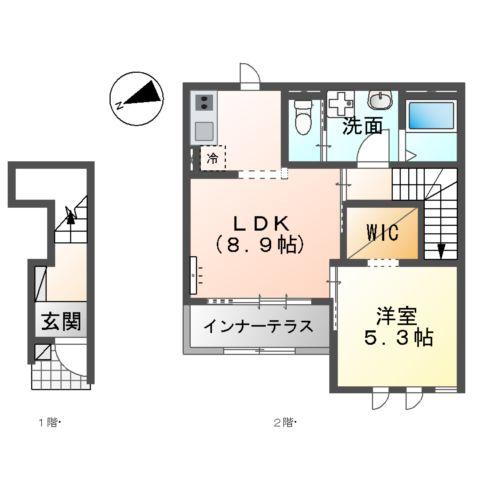 新作新築アパート 203号室の間取り