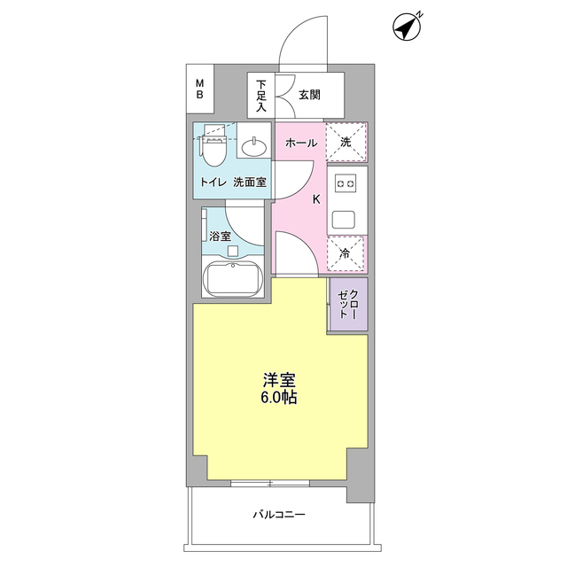 プラース千代田富士見 706号室の間取り