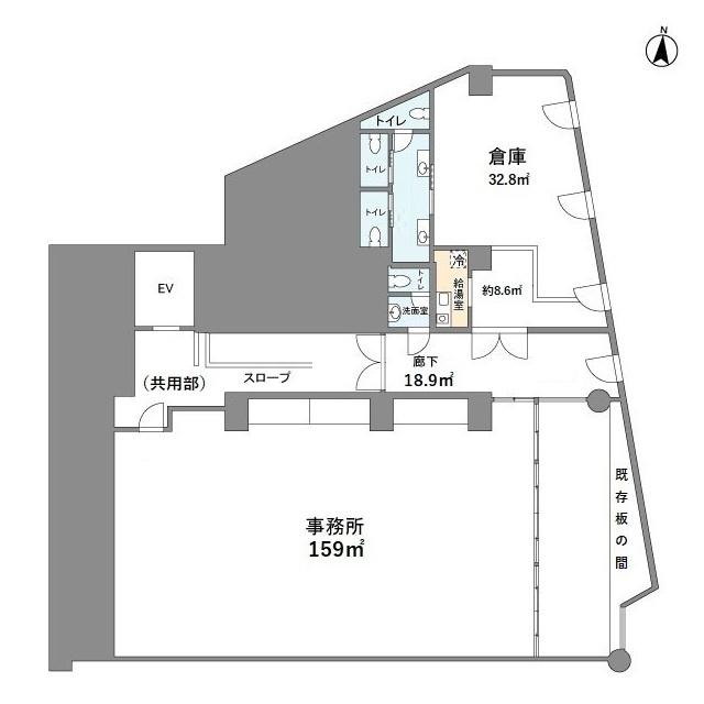 中田ビル 302号室の間取り