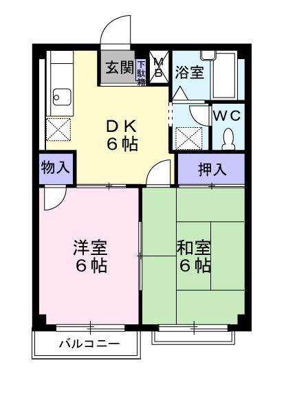 新井ハイツⅡ 02040号室の間取り