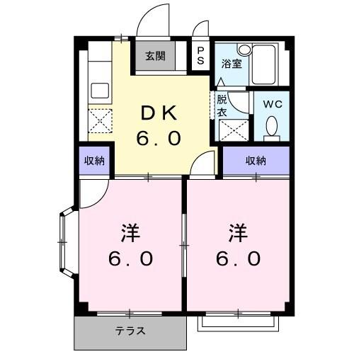 タムラハイツ 01050号室の間取り