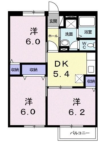 ニュ-エルディムHASHI 02040号室の間取り