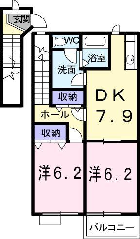 NARABUCHI313-S 02030号室の間取り