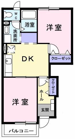 ピュア ミキ B 101号室の間取り