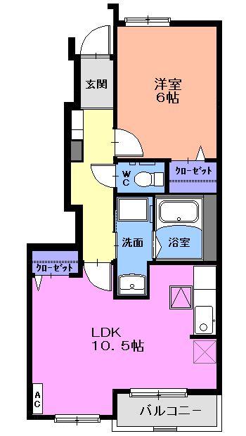 ラフレシールKM 01020号室の間取り