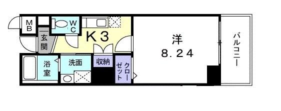 エスト堀川 506号室の間取り