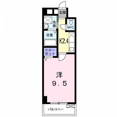 ノーブル・コーケ・横浜 404号室の間取り