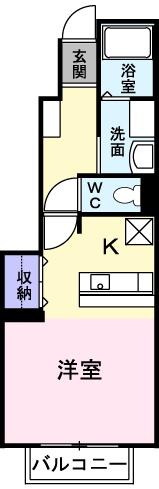 ヒラソル住山Ⅰ 01030号室の間取り