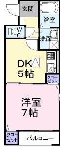 ミニヨン 101号室の間取り