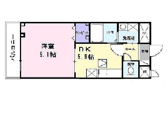 ヒラソル・ナツA 103号室の間取り