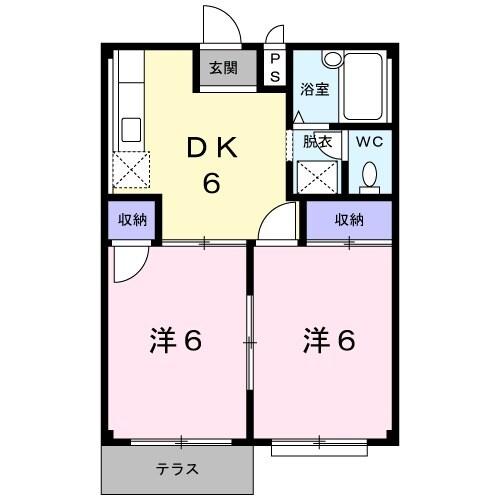 メゾントミ-Ⅱ 01020号室の間取り