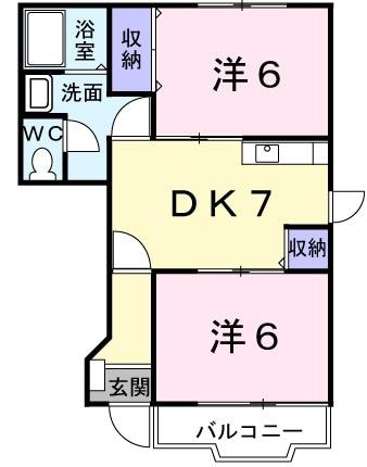 コ-ト・ドソレイユB 01040号室の間取り