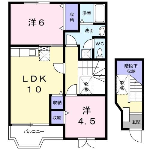 ガーデンロイヤル カトレア館 02020号室の間取り