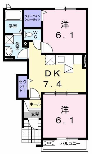 スウィ-ト コテ-ジⅠ 01030号室の間取り