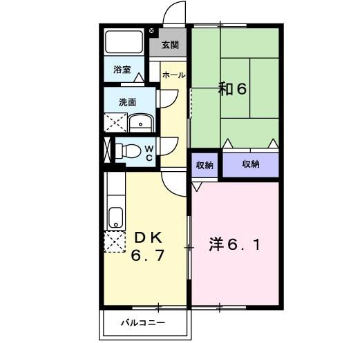 田端ハウス 01030号室の間取り