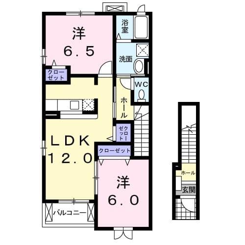 絆KIZUNA B 02010号室の間取り