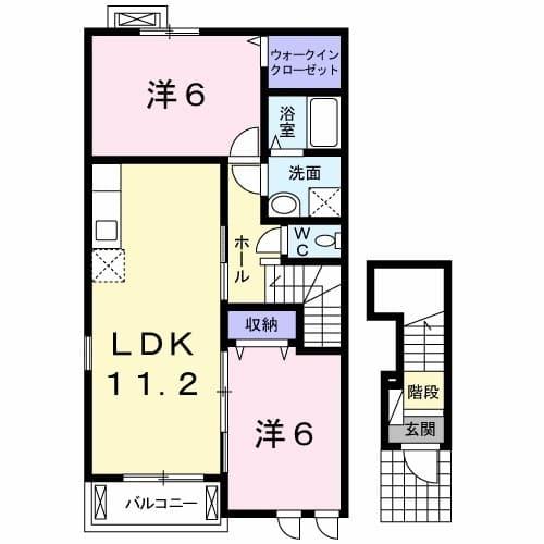 メゾン カワセミ 02010号室の間取り