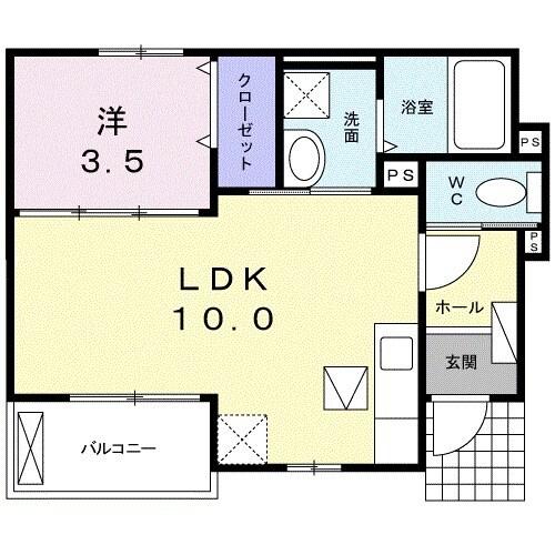 ラフィーネ坂本 103号室の間取り
