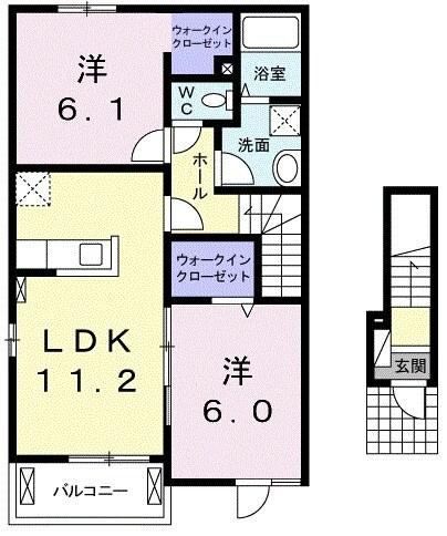 プレッソB 02010号室間取り図