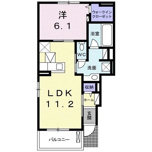 ハピネスハウスM Ⅱ 01010号室の間取り