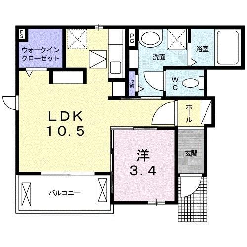 メゾン・ド・yu Ⅱ 01010号室の間取り
