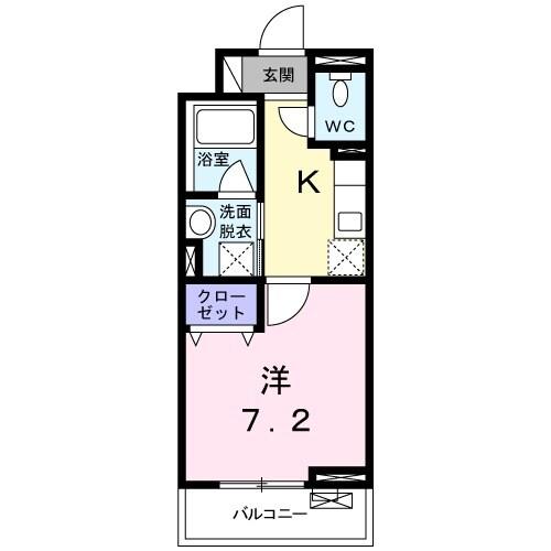 プラシード 02070号室間取り図