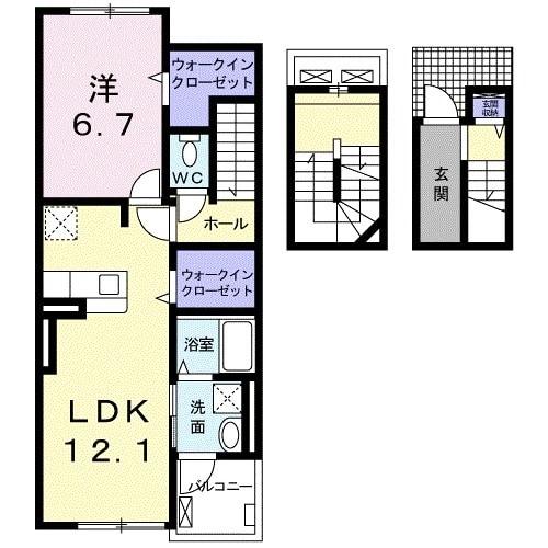 上戸祭町アパート 03020号室の間取り