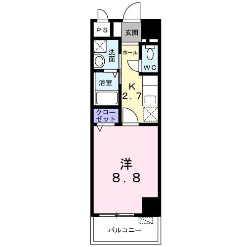 メゾン Shinka 201号室の間取り