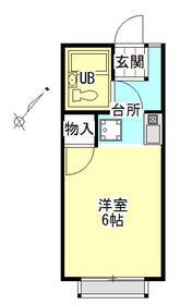 リバーサイド・シモゴー 206号室の間取り