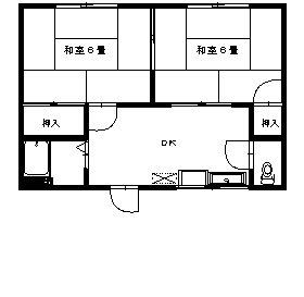 石川ハイツ 201号室の間取り